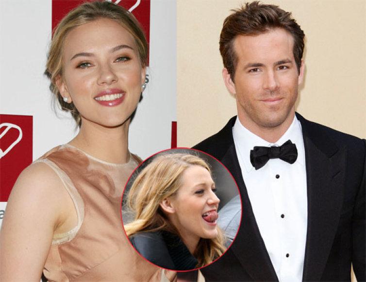 Scarlett Johansson, Ryanas Reynoldsas ir Blake Lively