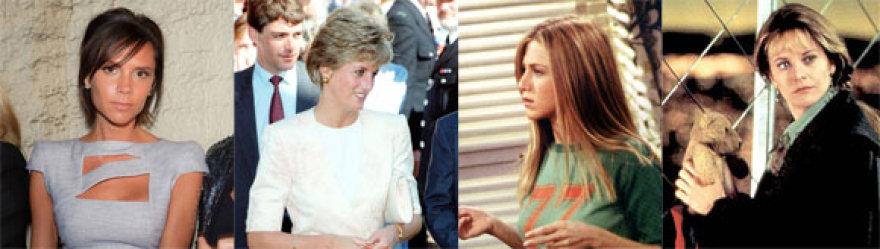 Victoria Beckham, princese Diana, Jennifer Aniston, Meg Ryan