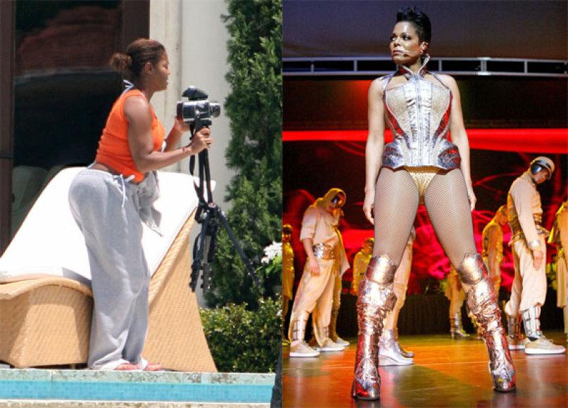 Janet Jackson anksčiau ir dabar
