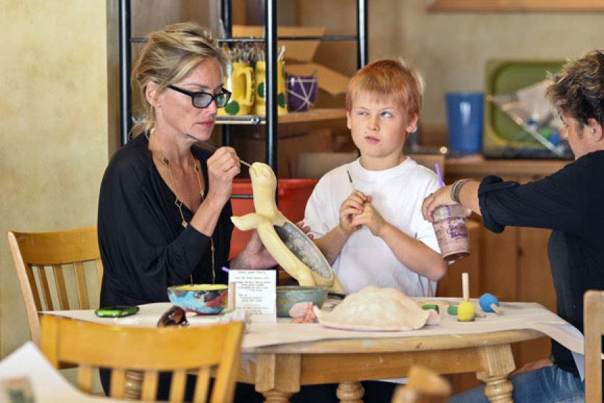 Sharon Stone su sūnumi