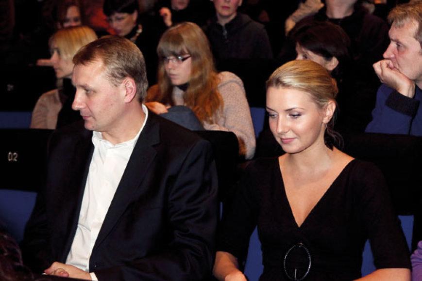 Andrius Šedžius su drauge Monika