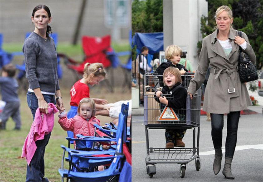 Jennifer Garner ir Sharon Stone