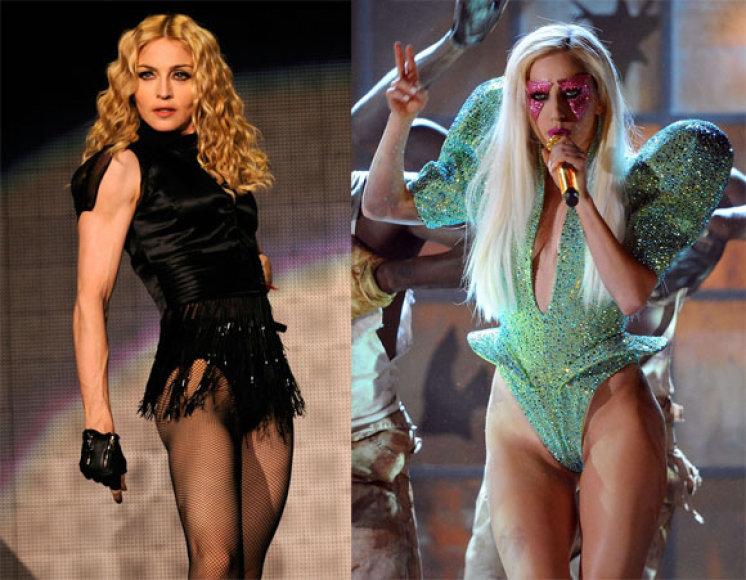 Madonna ir Lady Gaga