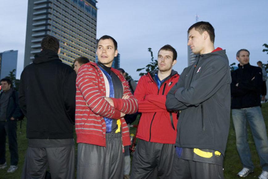 Steponas Babrauskas, Martynas Gecevičius ir Artūras Jomantas