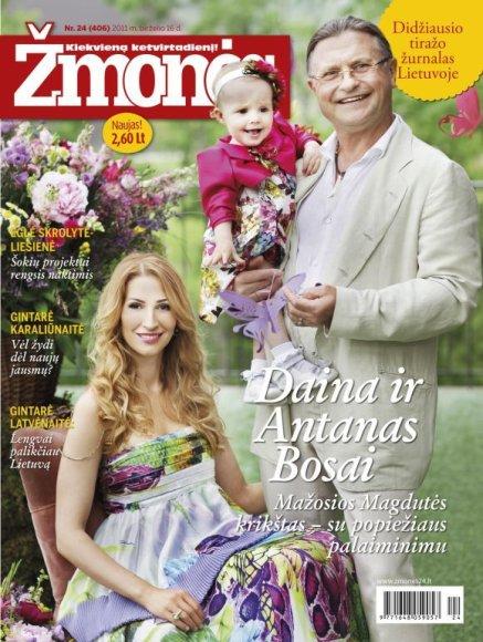 Daina ir Antanas Bosai su dukra