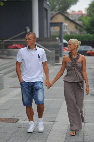 Darvydas Šernas su drauge Sandra Lukšyte