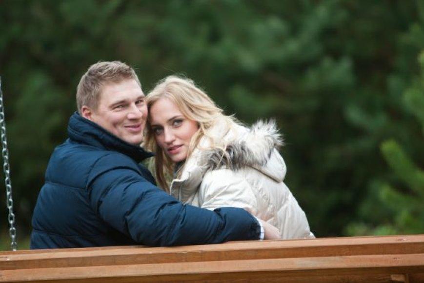 Rolandas Džiaukštas su žmona Simona