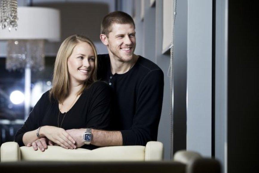 Marijonas Petravičius su žmona