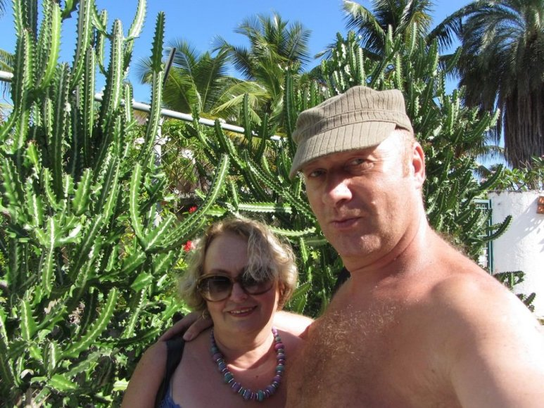 Jurijus Smoriginas su žmona Dalia