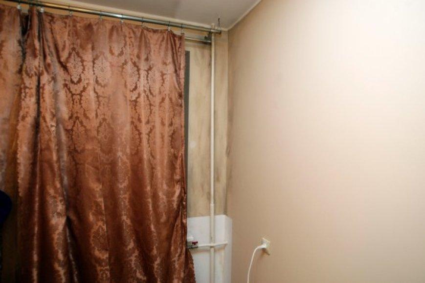 Gaisro metu aprūko sienos, lubos, nukentėjo užuolaida.