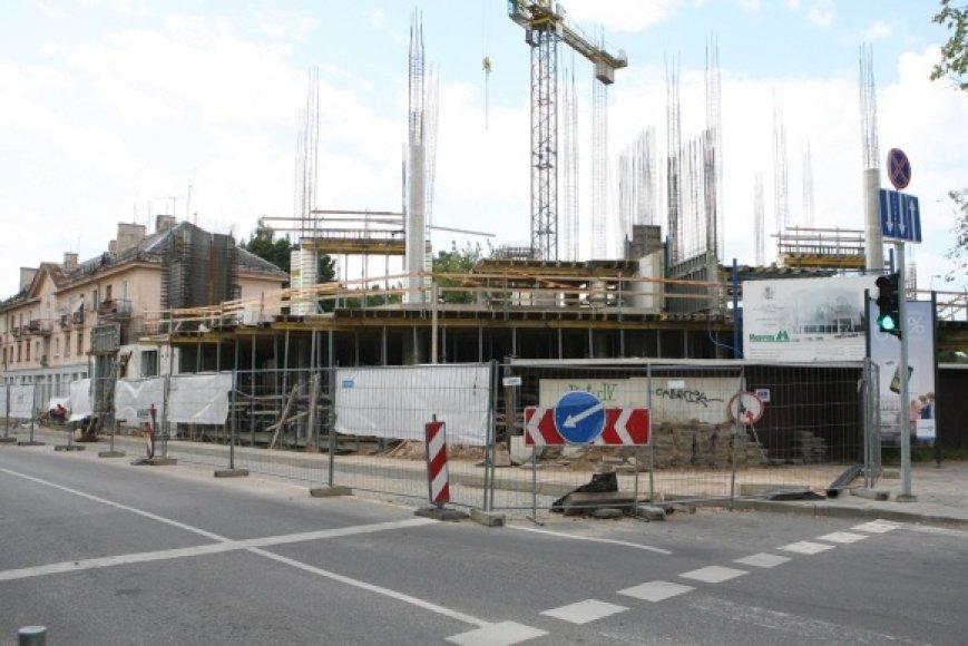 """""""Maskvos namai"""" kyla visai šalia Vilniaus centro – Rinktinės ir A.Juozapavičiaus gatvių sankryžoje."""