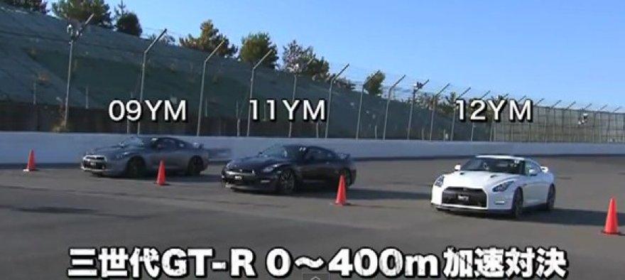 """Trys """"Nissan GT-R"""" – kuris greičiausias?"""