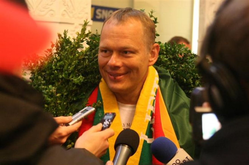 Gintauto Igario sutikimas Vilniaus oro uoste