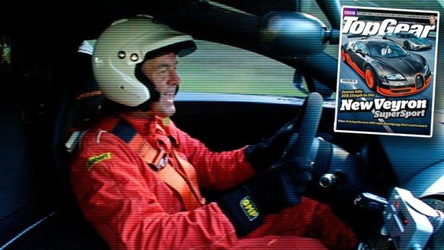"""Jamesas May už """"Veyron SuperSport"""" vairo"""