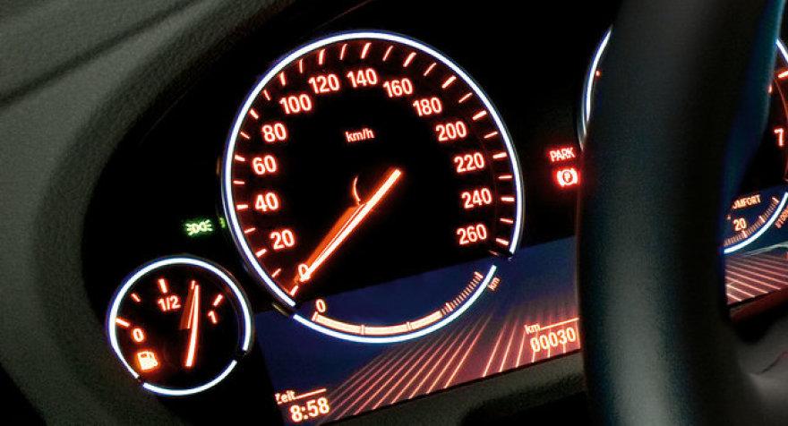 """""""BMW 5 GT"""" prietaisų skydas"""