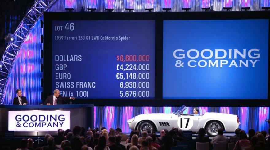 """Gooding & Company"" aukcione parduoti automobiliai"