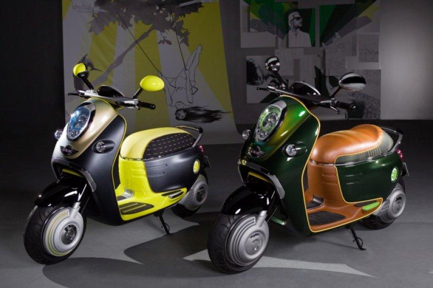 """MINI Scooter E Concept"" – pirmasis MINI motoroleris"