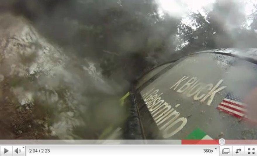 Pirma Keno Blocko avarija ralio automobiliu
