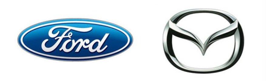 Ford ir Mazda logotipai