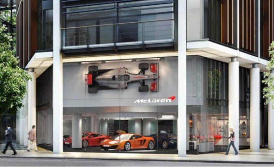 """""""McLaren"""" pardavimo salonas"""