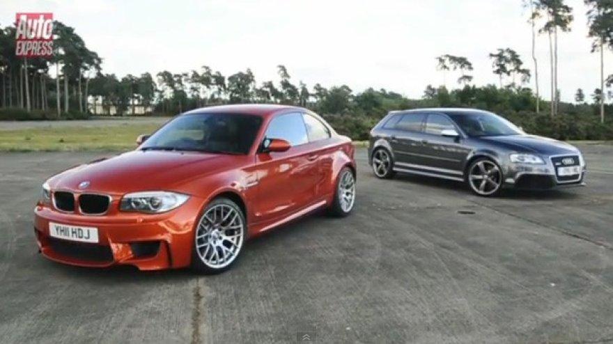 """BMW 1 serijos M kupė ir """"Audi RS3"""""""
