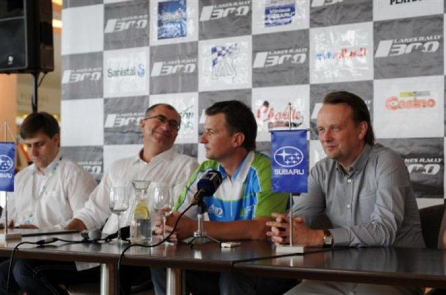 """""""300 Lakes Rally"""" spaudos konferencija"""