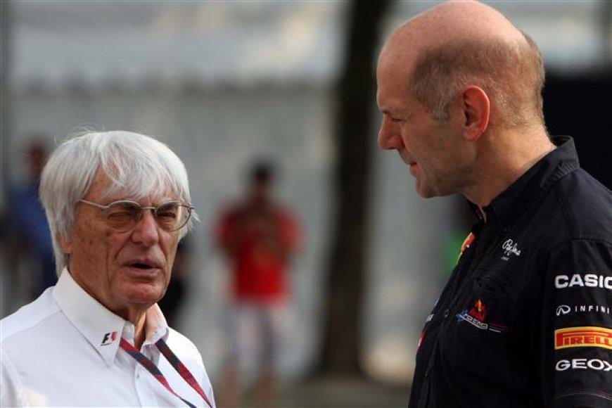 Bernie Ecclestone pokalbis su Adrianu Newey