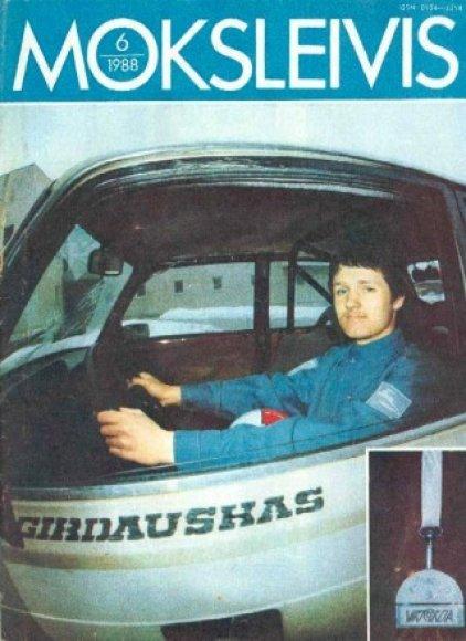 """Saulius Girdauskas 1988 m. žurnale """"Moksleivis"""""""