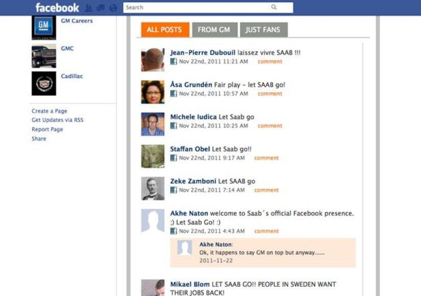 """GM """"Facebook"""" turnyras puslapis"""