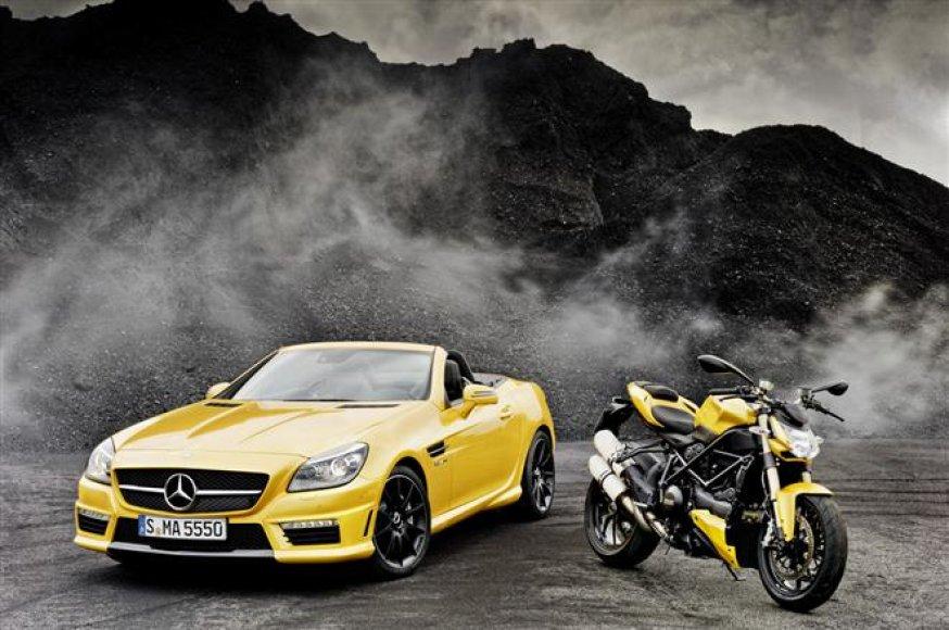 "Komanda – ""Mercedes-Benz SLK 55 AMG"" ir ""Ducati Streetfighter 848"""