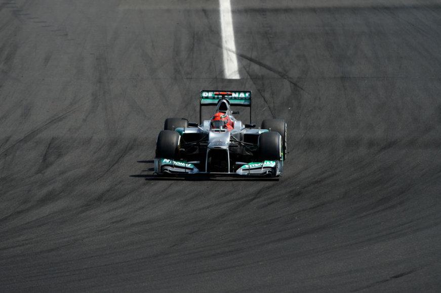 """Formulės-1"" Vengrijos GP lenktynės. ""Mercedes"" bolidas"