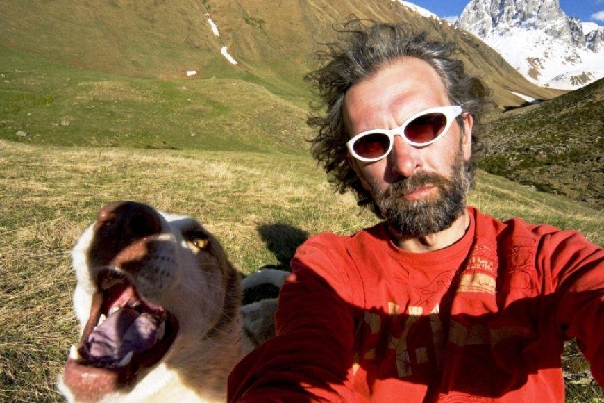 Marius Abramavičius prie Šauki kalno