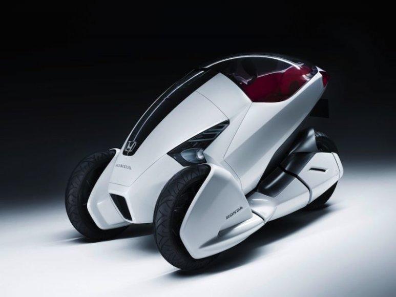 """Honda 3R-C"" koncepcija – automobilio ir motorolerio hibridas"