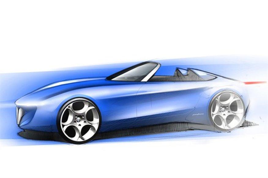 """""""Pininfarina"""" kuria naują """"Alfa Romeo"""" kabrioleto koncepciją"""