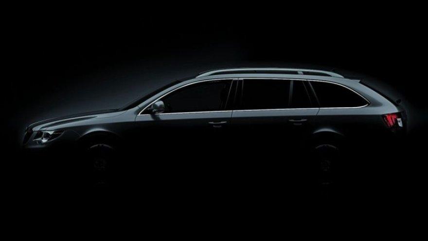 """Naujasis """"Škoda Superb"""" universalas – pirmoji užuomina"""