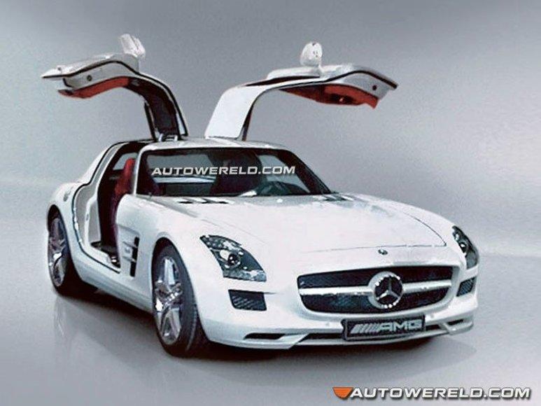"""Mercedes-Benz SLS AMG Gullwing"" – pirmosios nuotraukos?"