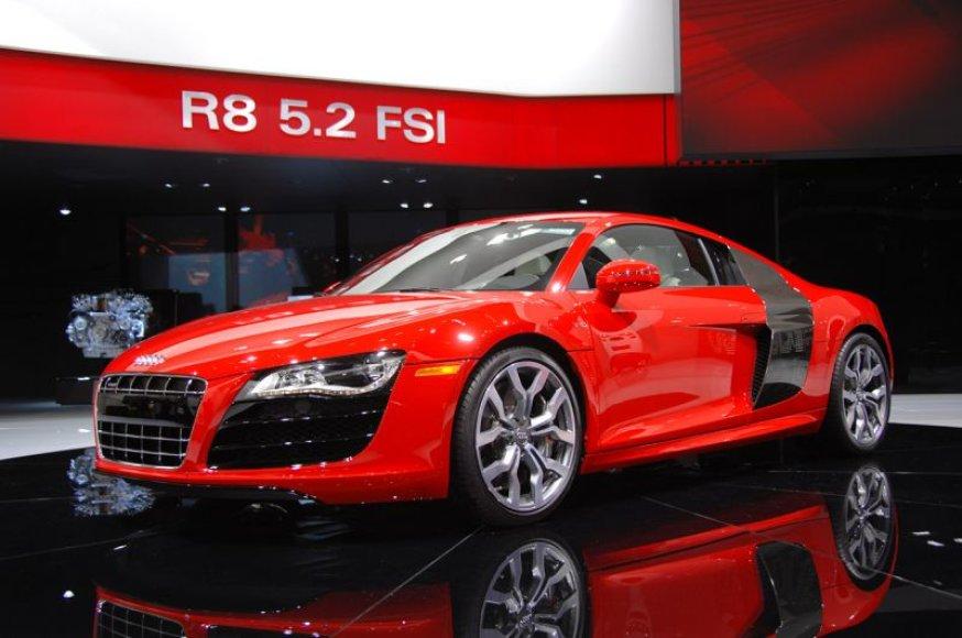 """Detroite sužibo """"Audi R8 V10 5.2 FSI"""" žvaigždė"""