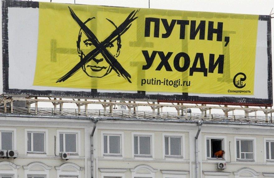 Vladimirui Putinui skirtas Rusijos opozicijos plakatas
