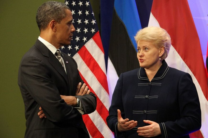 JAV prezidentas Barackas Obama ir Lietuvos prezidentė Dalia Grybauskaitė