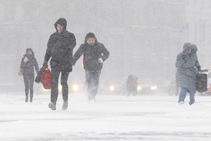 Sniegas Sankt Peterburge