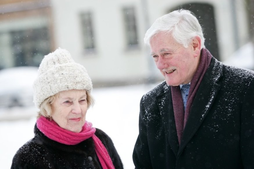 Ponia Alma Adamkienė ir prezidentas Valdas Adamkus
