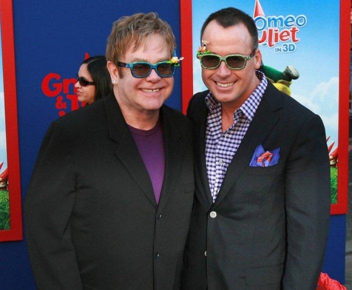 Eltonas Johnas ir Davidas Furnishas