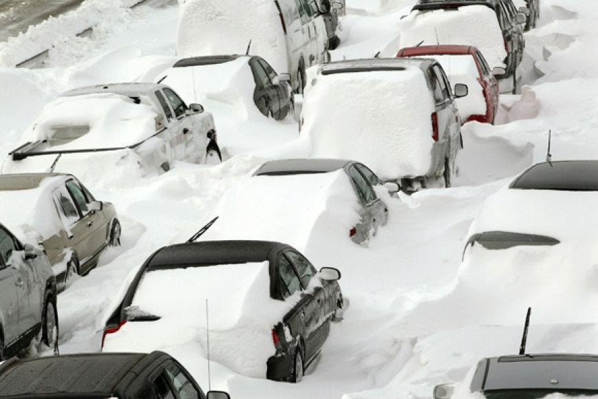 Užpustyti automobiliai