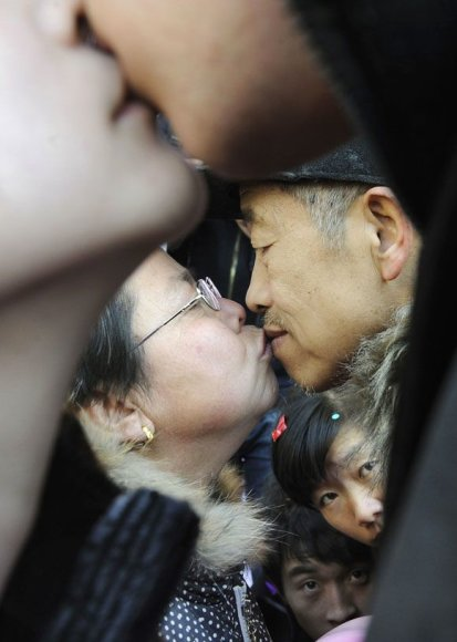 Bučinių konkursas prekybos centre, Kinijoje