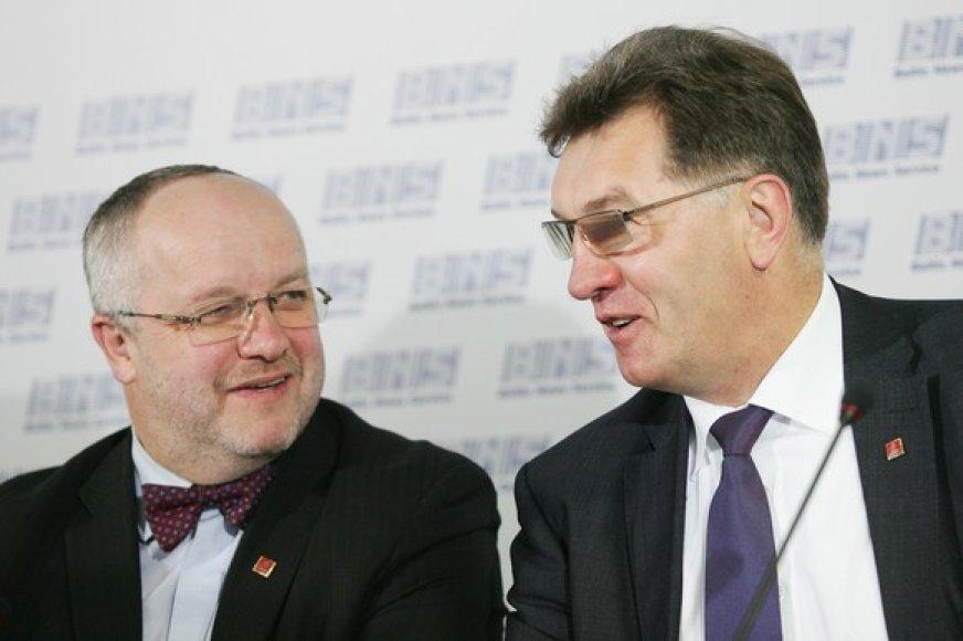Juozas Olekas ir Algirdas Butkevičius