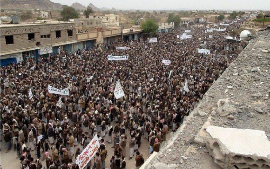 Protestuotojai Jemene