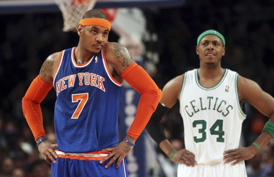 Carmelo Anthony ir Paulas Pierce'as