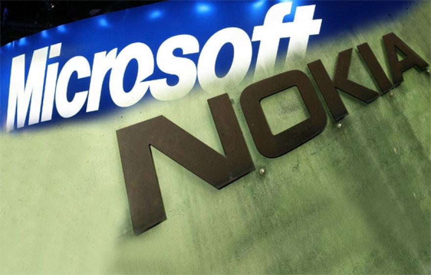 Microsoft ir Nokia logotipai