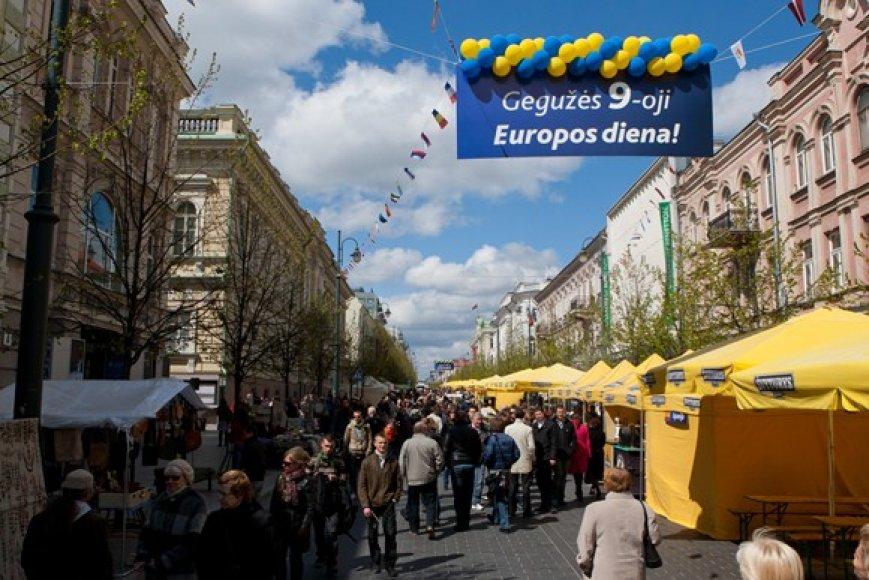 Europos dienos minėjimo akimirka