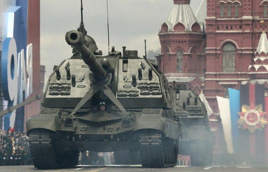 Tankų paradas Raudonojoje aikštejė